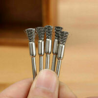 5Pcs 3mm Rotary Steel Wire Wheel Brush Cup Tool Shank For Drill Weld P Q2A1 V7H2