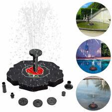 Solar Powered Bird Bath Fountain Water Pump Floating Outdoor Pond Garden Patio