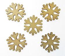 5 X Holz MDF Schneeflocke Form Verzierung Handwerk Blank Formen UK