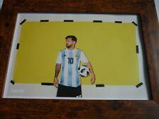 Framed Original Quality frame PRINT 442 Football magazine Lionel Messi #10