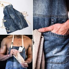 New Unisex Denim Apron for Kitchen Home Gardening Cooking Chef Cafe Barista Gift