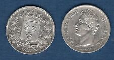 Charles X , 1824 - 1830 - Second Type d'effigie - 5 Francs 1827 W Lille TTB