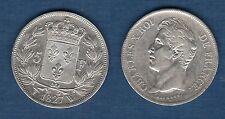 Charles X , 1824 - 1830 - Second Type d'effigie - 5 Francs 1827 W Lille TTB