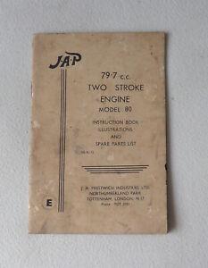 JAP 79 - 7cc Two Stroke Engine Model 80 Instruction Book - JA Prestwich Indust.