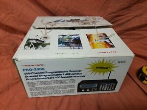 Realistic pro-2006 programmeable Radio Scanner  receiver. Air.ham.marine,police