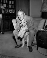 CBS OLD TV RADIO PHOTO British Author James Hilton At His Apartment 1