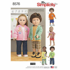 "Simplicity SEWING PATTERN 8576 Unisex 18""/45.5cm Dolls Clothes"