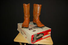 Men's VINTAGE Justin Cowboy Boots #2304 Kangaroo; Size 11 D with box candy-1960s