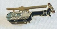 Vintage LINCS Helicopter Enamel Badge/Pin size 30 x 13 mm