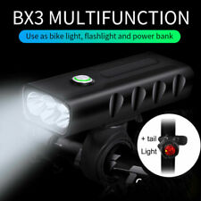 New X3 1500LM CREE T6 LED Mountain Bike Light USB Rechargeable Front Rear Lamp