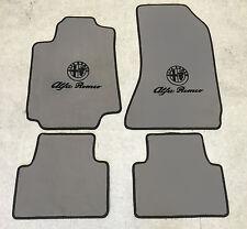 Autoteppich Fußmatten für Alfa Romeo 159  Grau-schwarz  Velours 4teilig Neuware