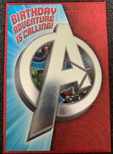 HALLMARK MARVEL AVENGERS ASSEMBLE BIRTHDAY GREETING CARD WITH STICKERS