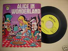 "Peter Pan Records ""ALICE IN WONDERLAND"" 45 RPM"