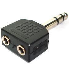 """6.35mm-6.3 Mm-1 / 4 """"Stereo Plug A 2 X Jack 3,5 mm, adaptador"""