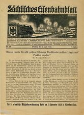 Sächsisches Eisenbahnblatt Nr 13 1926 Zeitschrift Eisenbahn in Sachsen Riesa