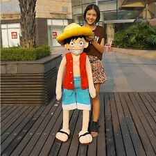 "Huge ONE PIECE Monkey D Luffy PLUSH SOFT TOY birthday gift Christmas Gift 45""H"