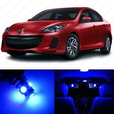 6 x Ultra Blue LED Interior Lights Package For 2010 - 2013 Mazda 3 MS3 Sedan