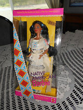 DOLLS OF THE WORLD (NATIVE AMERICAN ) 1992 PINK LABEL BARBIE 14YRS AND UP