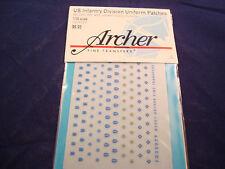 ARCHER FINE TRANSFERS US INF UNIFORM PATCHES 8 23 35 40 44 DIV FG35029 1:35 NEW
