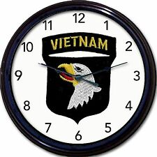 Screaming Eagles Vietnam 101st Airborne Division Army infantry Wall Clock New