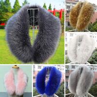 13 Farben Damen Pelzkragen Kunstpelz Faux Fur Fell Kapuzenkragen Winter Warm