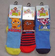 Boys Fun Novelty Moshi Monster Character Socks Size 9-12 Pack of 3