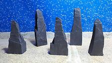 Fennstones small standing stones natural slate furnishing aquarium fish tank