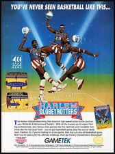 HARLEM GLOBETROTTERS__Original 1991 Print AD / game promo__NES_Nintendo__GameTek