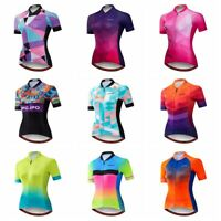 New Cycling Jersey Women Bike Short Sleeve Bicycle Shirt Quick-Dry Clothing Tops