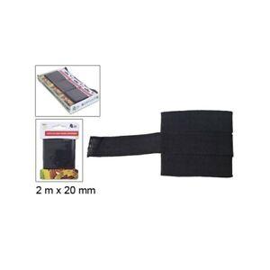Ruban 100% Coton Noir 2M x 20mm Couture Mercerie Scrapbooking Broderie
