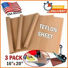 3 Pc Teflon Transfer Sheets for Heat Press Reusable Non Stick Iron Resistant Mat