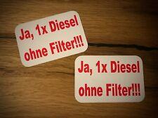2x DIESEL ohne Filter Aufkleber Feinstaub Abgas Skandal Umweltzone Euro 3 4 #134