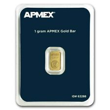 GOLD 1 Gram APMEX Carded Bar 99.99% Fine Pure Bullion Investment Stackable