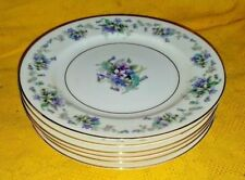 "6 pc Noritake ""Violette"" 3054 Plates,2 dinner,2 salad 2 bread"