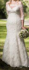Maggie Sottero Designer Wedding Dress, Ivory, UK size 12, professionally cleaned