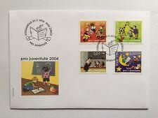 2 Enveloppes Pro Juventute 2004 avec 5 timbres suisses CH1778/1781,Zum J373/J376