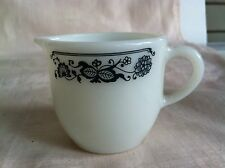 Pyrex Decorative Milk Glass Creamer with a Great Design by the Rim