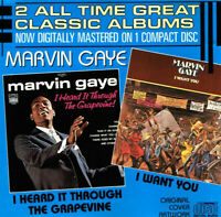 CD Marvin Gaye ‎I Heard It Through The Grapevine I Want You Tamla Motown 1986