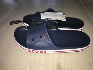 Crocs Crocband Slide navy Gr. 41-42 W10 Badeschuhe Latschen Freizeitschuhe Neu