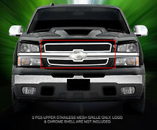 Fits 2002-2006 Chevy Silverado/Avalanche Upper Stainless Steel Mesh Grille Fedar