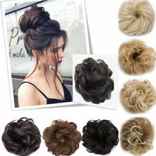 Natural Curly Messy Bun Hair Piece Scrunchie Cover Hair Extensions Real As Human