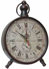 New French Country Vintage Antique Style Standing Mantel Shelf Clock