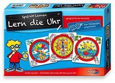 Noris Spiele Lern die Uhr Kinderspiel Mädchen und Jungen Lernen und Bildung
