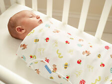 Grobag Gro Swaddle Baby Swaddling Blanket - Apple of My Eye (0-3 months)