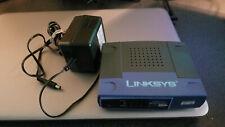 Linksys EtherFast Model:Ezxs55W 10/100 5-Ports Workgroup Switch w/ Power Supply
