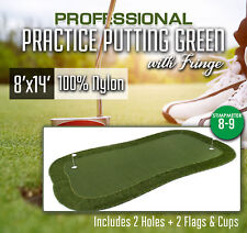 Professional Synthetic Grass Practice Putting Green With Fringe - 8 x 14 feet