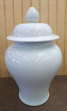 """Gray White Chinese Porcelain Ginger Jar Vase 7""""h x 6""""w"""