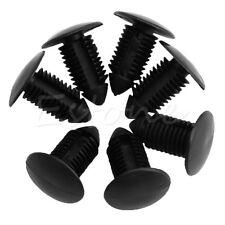20Pcs Car Plastic Black Door Bumper Fender 11mm Hole Rivet Push Clips Fasteners