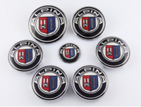 7pcs Alpina Hood Trunk Steering Wheel Center Caps Hub Caps Emblem Badge Sticker