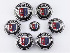 7pcs Alpina Hood Trunk Steering Wheel Center Caps Hub Caps Emblem Badge Sticker